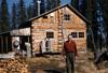 Howard J. Binkley's cabin, Soldotna, 1954